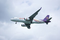 TXO Airbus A320-200 da via aérea de Thaismile Fotografia de Stock