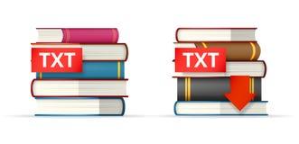 TXT books stacks  icons Royalty Free Stock Photos