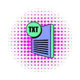 TXT file icon in comics style. On a white background Royalty Free Stock Photography