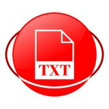 Txt file vector illustration, Red icon. Red icon, txt file vector illustration, vector icon stock illustration