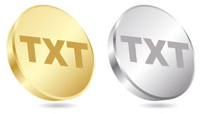 Txt format. Golden and silver color royalty free illustration