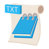 TXT icon, cartoon style. TXT icon in cartoon style on a white background Royalty Free Stock Image