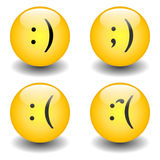 Txt Smileys - Happy & Sad Stock Photo
