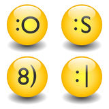 Txt Smileys - OMG, Sunglasses, Neutral & Confused Royalty Free Stock Image