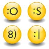 Txt Smileys - OMG, Zonnebril, Neutraal & Verward Royalty-vrije Stock Afbeelding