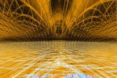 Żółty abstrakcyjne tło Zdjęcia Stock