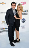 Ty Burrell, Julie Bowen arrives at the 2012 Billboard Awards Stock Photography