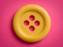 Żółty guzik Fotografia Royalty Free