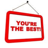 Ty jesteś best Zdjęcia Stock