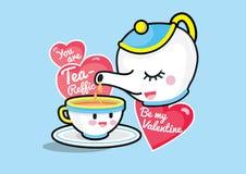 Ty jesteś herbatą, Byłeś mój walentynką Obrazy Royalty Free