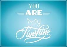 Ty jesteś mój światła słonecznego plakatem Ilustracja Wektor