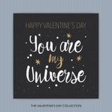Ty Jesteś Mój wszechświatem - romantyczna wektorowa typografia Zdjęcia Royalty Free