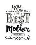 Ty jesteś Najlepszy matką w świacie Fotografia Royalty Free