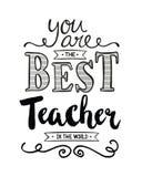 Ty jesteś Najlepszy nauczycielem w świacie Obraz Royalty Free