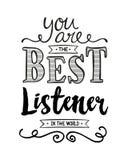 Ty jesteś Najlepszy słuchaczem w świacie Zdjęcia Royalty Free