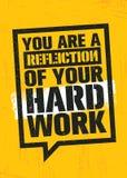 Ty Jesteś odbiciem Twój ciężka praca Treningu i sprawności fizycznej Gym projekta elementu pojęcie Kreatywnie Obyczajowy wektoru  Fotografia Royalty Free