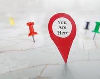 Ty Jesteś Tutaj locator symbolem fotografia royalty free