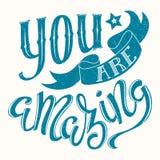 Ty jesteś zadziwiający ilustracji