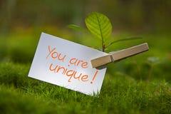 Ty jesteś unikalny! Obrazy Royalty Free