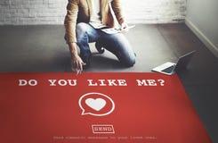 Ty Lubi Ja? Walentynki miłości pasi Romansowy Kierowy pojęcie Obrazy Royalty Free
