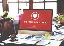 Ty Lubi Ja? Walentynki miłości pasi Romansowy Kierowy pojęcie Fotografia Stock