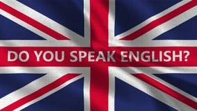 Ty Mówisz angielszczyzny - tekstury flaga 001 ilustracja wektor