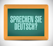 Ty mówisz niemiec szyldowa wiadomość na desce Zdjęcie Royalty Free