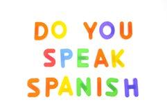 Ty mówisz spanish. zdjęcia stock