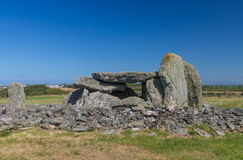 Ty Mawr Ancient Hut Circle on Holyhead, Anglesey Royalty Free Stock Photo