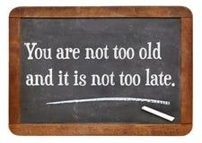 Ty no jesteś zbyt stary zdjęcie stock