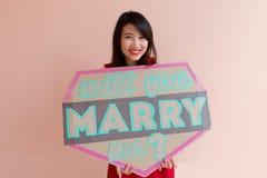Ty poślubiasz ja Fotografia Stock