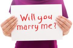 Ty poślubiasz ja Fotografia Royalty Free