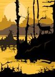 Żółty Tajemniczy krajobraz Obrazy Royalty Free