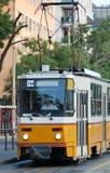 Żółty tramwajowy Zdjęcie Stock