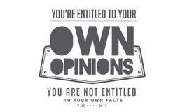 Ty tytułujesz twój swój opinie royalty ilustracja