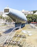 Tyły elektryczny podwodny Peral Cartegena Denny przód Obrazy Stock