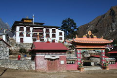 Tyangboche Monastery royalty free stock images