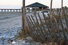 tybee de sable d'île de dunes photo stock