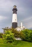 Tybee-Insel-Strandleuchtturm mit Donner und Blitz Lizenzfreie Stockbilder