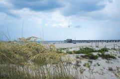 Tybee Island Beach near Savannah, Georgia. Royalty Free Stock Photos