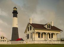 Tybee Island Light. At dawn with storm moving in Royalty Free Stock Photos