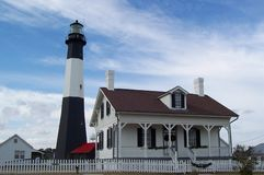 Tybee Island Lighthouse. And Innkeeper's House Royalty Free Stock Images
