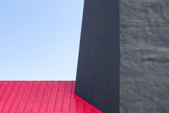 Tybee Island Lighthouse Abstract. Tybee Island Lighthouse - architectural detail of a historic lighthouse with colonial era ties near Savannah, Georgia. Red royalty free stock image