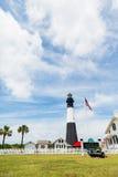Tybee Island Lighthouse en Park Stock Afbeelding
