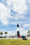 Tybee Island Lighthouse et parc Image stock