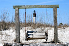 Tybee Island Lighthouse with Swing Royalty Free Stock Photography