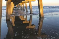 Tybee Island Pier Royalty Free Stock Images