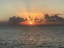 Tybee island sunrise royalty free stock photos