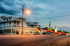 Tybee island town center streets at sunset Stock Photography