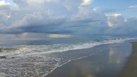 Tybee wyspy linia brzegowa Zdjęcie Stock